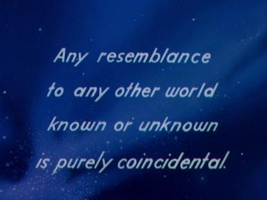 Main title from A Matter of Life and Death (1946) (20) Any resemblance to any other world known or unknown is purely coincidental