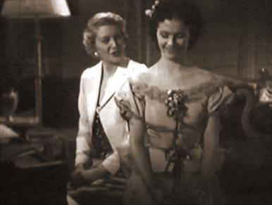 Jane Carr and Margaret Lockwood in a film clip from Melody and Romance