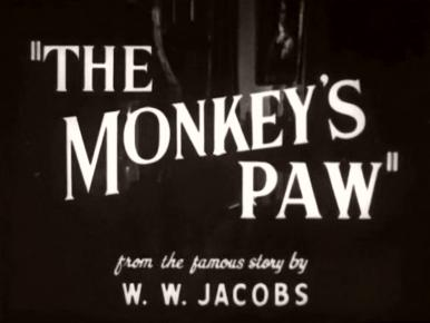 Main title from The Monkey's Paw (1948) (4).  From the famous story by W W Jacobs