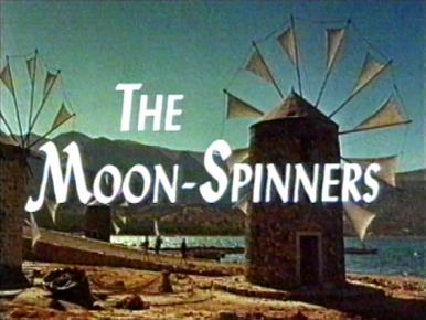 Main title from The Moon-Spinners (1964).  A young girl holidaying in Crete with her Aunt becomes involved with jewel robbers.
