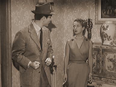 Gerard Oury (as Maurice) and Joan Greenwood (as Susan) in a screenshot from Mr. Peek-a-Boo (1951) (2)