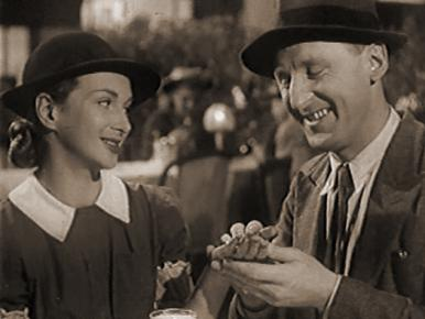 Joan Greenwood and Bourvil in a film clip from Mr. Peek-a-Boo