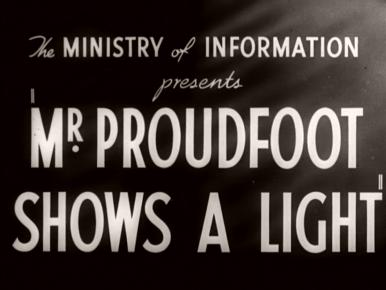 Mr Proudfoot Shows a Light (1941) opening credits (2)