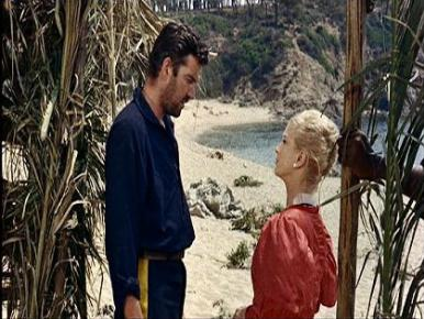 Joan Greenwood, Michael Craig and Beth Rogan in a film clip from Mysterious Island