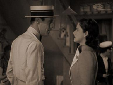 Margaret Lockwood and Rex Harrison in a film clip from Night Train to Munich