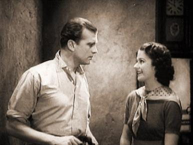 It is a case of mistaken identity for Jeannie (Margaret Lockwood) as she meets David (John Loder) for the first time, in a film clip from Owd Bob