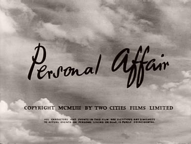 Main title from Personal Affair (1953) (5)