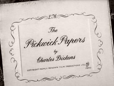 Main title from The Pickwick Papers (1952) (3)