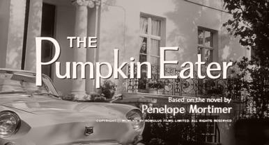 Main title from The Pumpkin Eater (1964) (3). Based on the novel by Penelope Mortimer