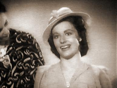Margaret Lockwood in a film clip from Quiet Wedding