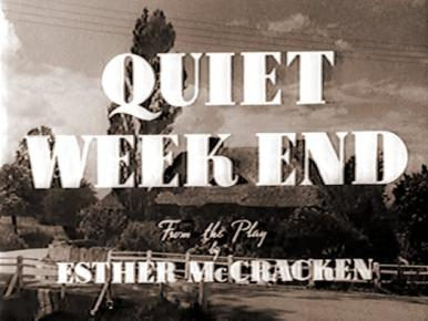 Main title from Quiet Weekend (1946)
