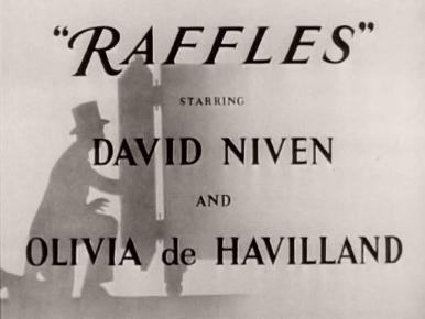 Main title from Raffles (1939) (3)  Starring David Niven and Olivia de Havilland