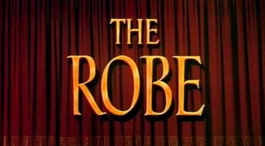 Main title from The Robe (1953).  Followers and opponents of Jesus are affected by the robe handed down by him at his crucifixion