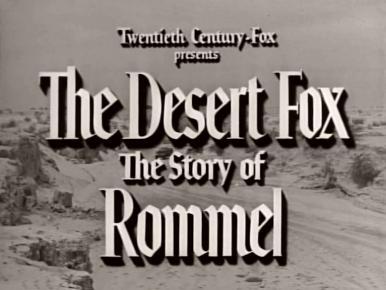 Main title from Rommel, Desert Fox (1951)