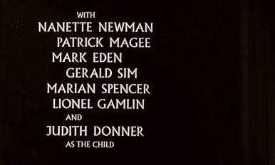Main title from Seance on a Wet Afternoon (1964) (5).  WIth Nanette Newman Patrick Magee, Mark Eden, Gerald Sim, Marian Spencer, Lionel Gamlin and Judith Donner as the child