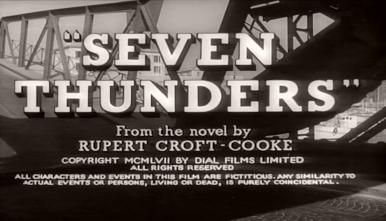 Main title from Seven Thunders (1957) (6). From the novel by Rupert Croft-Cooke