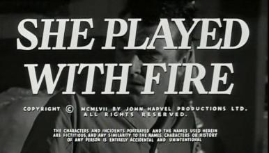 Main title from Fortune is a Woman (as She Played With Fire – US title) 1957