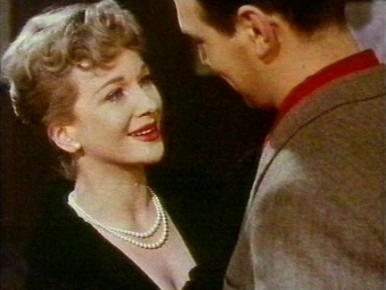 Joan Greenwood and Christopher Plummer in a film clip from Stage Struck