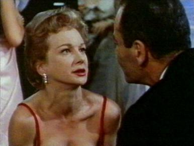 Joan Greenwood and Henry Fonda in a film clip from Stage Struck