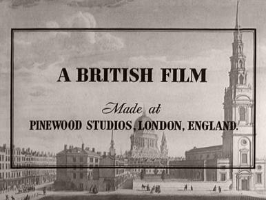 Main title from A Tale of Two Cities (1958) (2).  A British Film made at Pinewood Studios London, England