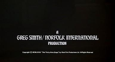 Main title from The Thirty-Nine Steps (1978) (5).  A Greg Smith / Norfolk International Production