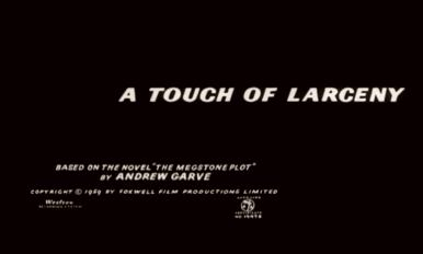 Opening credits from A Touch of Larceny (1960) (4)