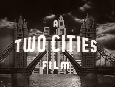 Logo for the Two Cities Film production company.  This was the company's second logo.