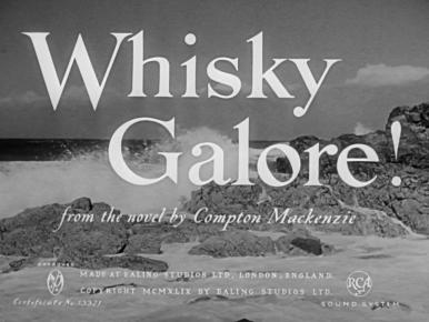 Main title from Whisky Galore! (1949).  During World War II, a ship full of whisky is wrecked on a small Hebridean island where the local customs and excise man has his hands full