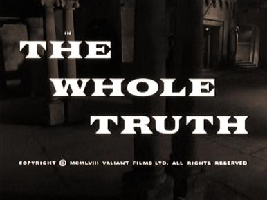 Main title from The Whole Truth (1958)