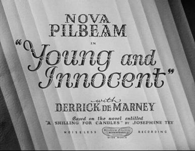 Main title from Young and Innocent (1937) (3). Nova Pilbeam with Derrick De Marney
