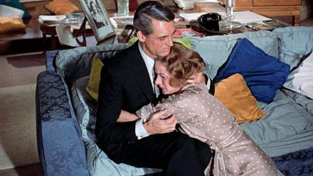 Photograph from Indiscreet (1958) featuring Cary Grant (as Philip Adams) and Ingrid Bergman (as Anna Kalman)