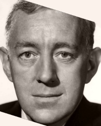 Promotional shot of distinguished British actor, Alec Guinness