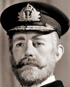 The Admiral (Alec Guinness) in the 1949 film, Kind Hearts and Coronets