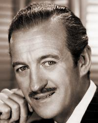 American publicity photograph featuring British actor David Niven