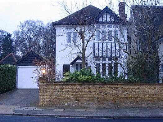 Margaret Lockwood's former home at 34, Upper Park Road in Kingston upon Thames, Surrey