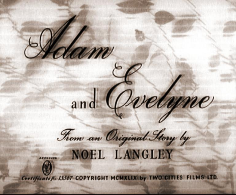 Main title from Adam and Evelyne (1949)