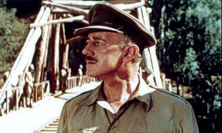 Colonel Nicholson (Alec Guinness) in David Lean's The Bridge on the River Kwai (1957)