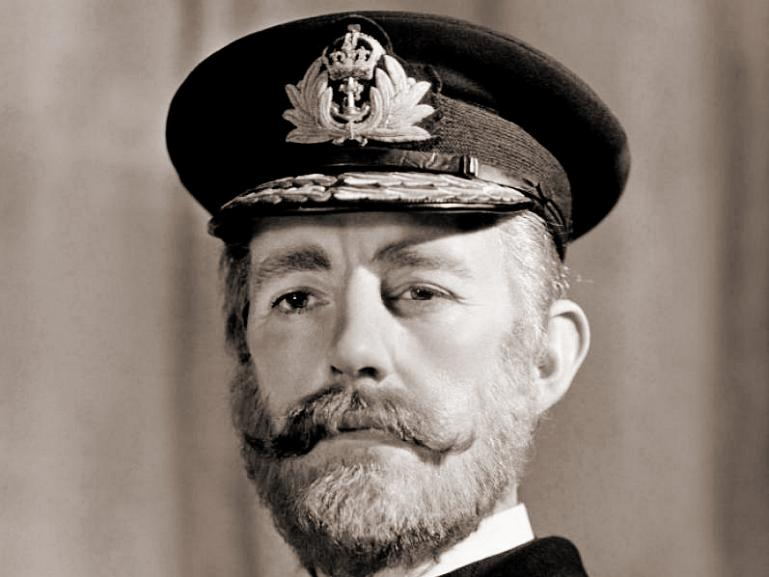 Alec Guinness as the Admiral in Kind Hearts and Coronets (1949)