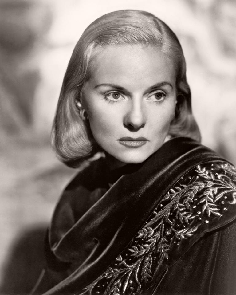 Publicity photograph featuring Ann Todd, English actress.  Todd is wearing an ornate embroidered shawl.