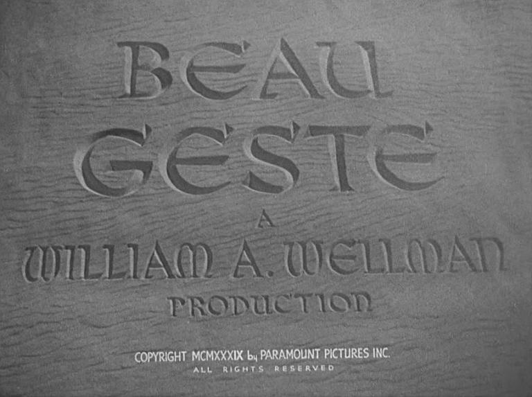 Main title from Beau Geste (1939)