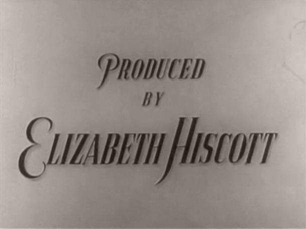 Main title from The Butler's Dilemma (1943) (7).  Produced by Elizabeth Hiscott