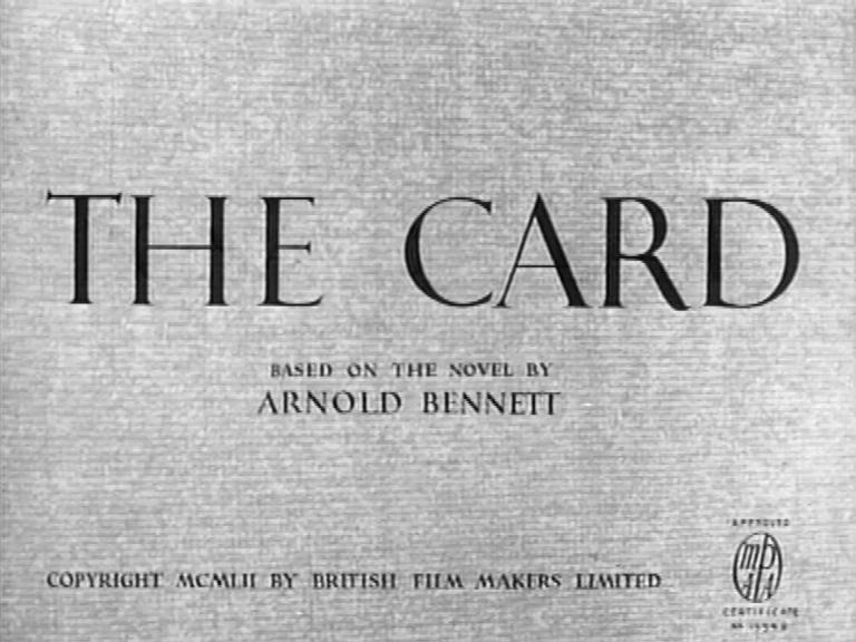 Main title from The Card (1952) (3). Based on the novel by Arnold Bennett