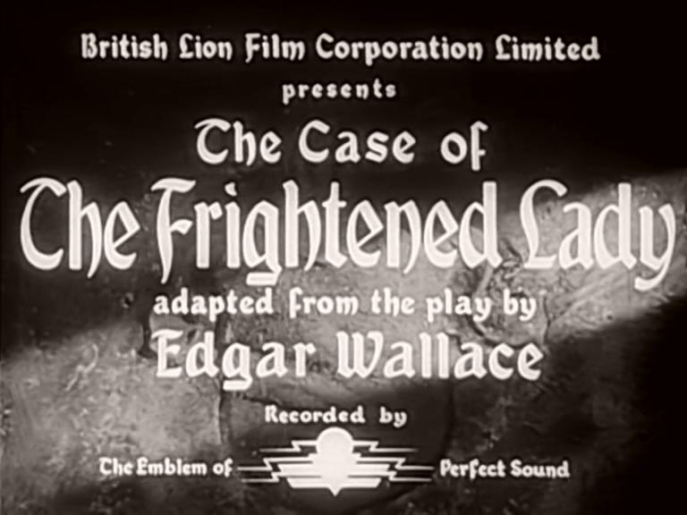 Main title from The Case of the Frightened Lady (1940) (1)