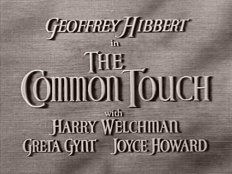 Main title from The Common Touch (1941)