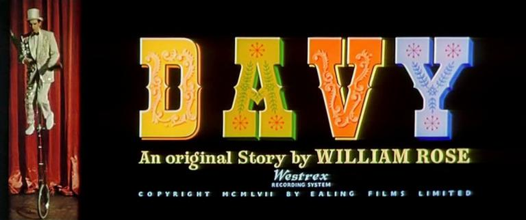 Main title from Davy (1958) (6). An original story by William Rose