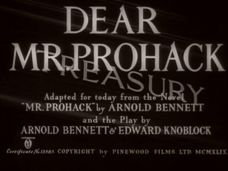 Main title from Dear Mr Prohack (1949) (4)
