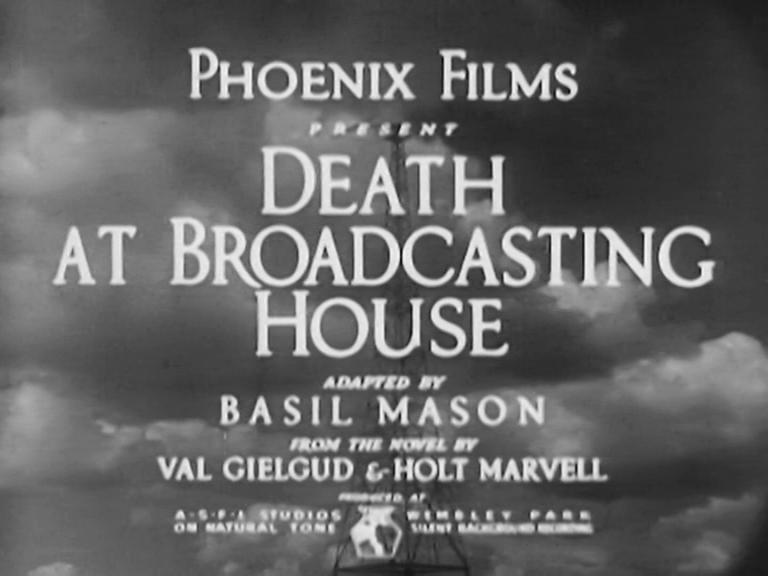 Main title from Death at Broadcasting House (1934) (1), Phoenix Films present
