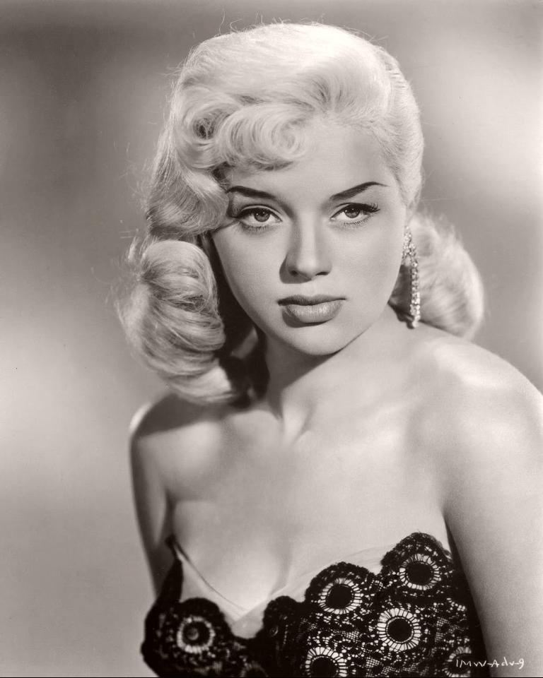 Publicity shot of the sexy British actress, Diana Dors