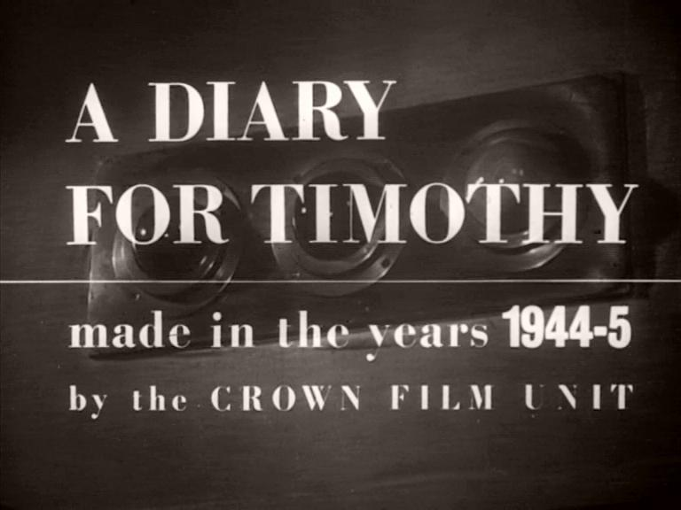 Main title from A Diary for Timothy (1945) (1). Made in the years 1944-4 by the Crown Film Unit