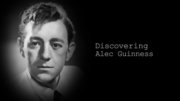 Main title from the 'Discovering: Alec Guinness' episode of Discovering Film (1) featuring Alec Guinness